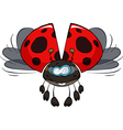 ladybird in flight vector image vector image