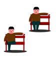 Man sitting on a park bench vector image vector image