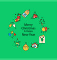 merry christmas beautiful background vector image