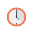office clock flat icon vector image