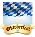 Oktoberfest banner with flag vector image vector image