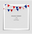 party holiday photo frame template with flags for vector image vector image