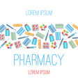 pharmacy poster flat icons vector image