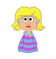 pixel girl vector image vector image