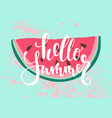 print with watermelon the inscription vector image