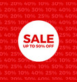 red sale store poster vector image