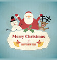 rerto christmas vector image vector image