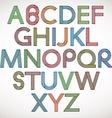 Retro style alphabet vector image