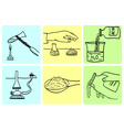 Rules of behavior in chemical laboratory vector image vector image