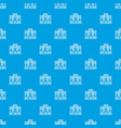 safe the data pattern seamless blue vector image