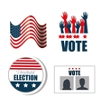 set concept election presidential isolated vector image vector image