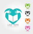 set of library book logo vector image