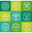 Set of outline tree monograms and logos Abstract vector image vector image