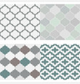 set of seamless moroccan tile pattern vector image vector image