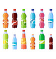 soda drink bottles soft drinks in plastic bottle vector image vector image