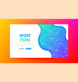 sport items landing page vector image