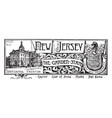 state banner new jersey garden state vector image vector image