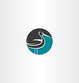 stork circle icon logo vector image