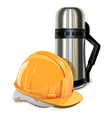Thermos with Helmet vector image vector image