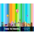 travel journey logo design template vector image vector image