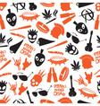 various color punk icons seamless pattern eps10 vector image