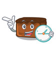 with clock brownies character cartoon style vector image