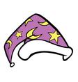 wizard hat vector image vector image