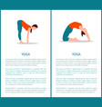 yoga and sportive woman set vector image