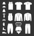 Set icons of men clothes and accessories vector image