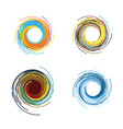 abstract color tornado vector image vector image