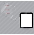 Abstract digital tablet vector image