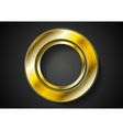 Abstract golden ring logo vector image vector image