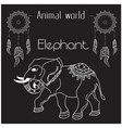 animal world elephant thai elephant style i vector image