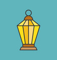 arabic ramadan lamp filled outline icon vector image vector image