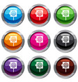 arrow in the center of target set 9 collection vector image vector image