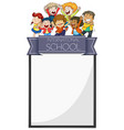banner design with kids from international school vector image vector image