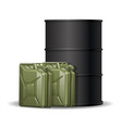 barrel and two petrol vector image