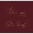 be mine - two original custom hand lettering vector image vector image