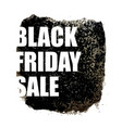 black friday sale poster with watercolor spot on vector image