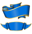 blue ribbon collection vector image