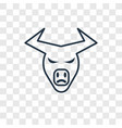 buffalo concept linear icon isolated on vector image