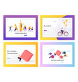 business people competition concept landing page vector image vector image
