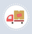 cargo van car truck delivery service shopping icon vector image
