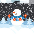 Christmas greeting card with white christmas vector image