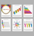 Collection infographics design elements