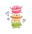 crazy yummy macarons vector image vector image