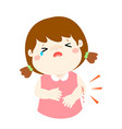 crying girl with wounds from accident vector image