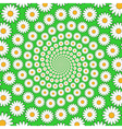 Design chamomile helix movement background vector image vector image