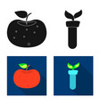 design of and symbol set of and ve vector image vector image