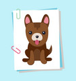 dog with tongue puppy poster vector image